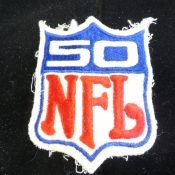 Original 1969 NFL Shield 50th Anniversary Jersey Patch