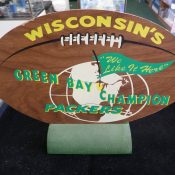 Early 1960s Plywood Green Bay Champion Packers Stand-Up Plaque