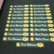 Green Bay Packers Reproduction Locker Room Name Plaques Set Of 21 Defferent