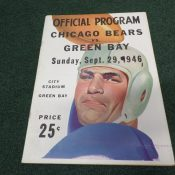 1946 Green Bay Packers Chicago Bear Game Program City Stadium