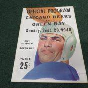 1946 Green Bay Packers Chicago Bear Game Program City Stadium