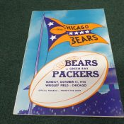 1950 Green Bay Packers Chicago Bears Game Program Wrigley Field