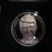 1995 NFL MVP Brett Favre .999 Silver One Ounce Silver Coin