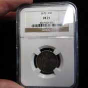 1875 United States Twenty Cent Piece NGC XF45