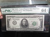 1934-A United States $500 Federal Reserve Note PMG 64CU EPQ
