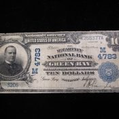 Green Bay Wisconsin Large Size National Currency McCartney National Bank