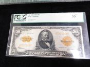 1922 United States Large Size Gold Certificate PCGS VF35