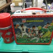 1964 NFL Football Aladdin Lunchbox With Original Thermos Packers Bears