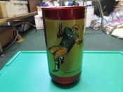 Scarce Circa 1970 Green Bay Packers Receiver Red Libbey Glass