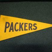 Scarce Green Bay Packers Team Souvenir Pennant Circa 1950s