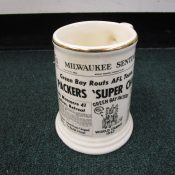 1967 Green Bay Packers Milwaukee Sentinel Super Bowl One Pottery Mug
