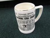 1968 Green Bay Packers Milwaukee Sentinel Super Bowl II Pottery Mug