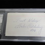 Green Bay Packers Herb Adderley Autographed Index Card PSA/DNA