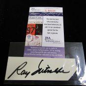 Green Bay Packers Ray Nitschke Cut Signature JSA Certified