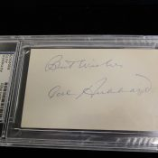 Green Bay Packers Cal Hubbard Autographed Index Card PSA/DNA