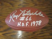 Green Bay Packers Ray Nitschke Autographed Football JSA