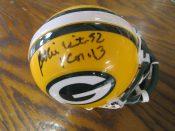 Green Bay Packers Reggie White Autographed Mini Helmet Ball Four