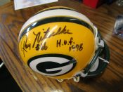 Green Bay Packers Ray Nitschke Autographed Mini Helmet CC/PCA