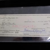 Green Bay Packers Business Account Check With Vincent Lombardi Autograph