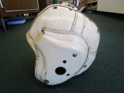 Vintage White Leather Vintage MacGregor H612 Football Helmet