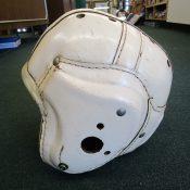 Vintage White Leather Vintage MacGregor H612 Football Helmet