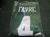 """New York Jets Brett Favre Autographed Reebok """"On Field"""" Jersey"""