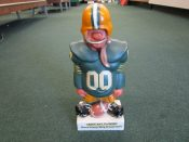 Large Fred Kail Green Bay Packers Figurine Coin Bank