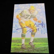 Goal Line Art Football Hall Of Fame Forrest Gregg Autographed Card