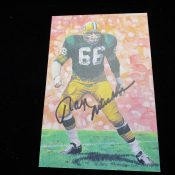 Goal Line Art Hall Of Fame Ray Nitschke Autographed Card