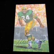 Goal Line Art Hall Of Fame Willie Wood Autographed Card
