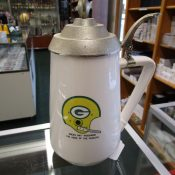 Scarce Early 1960s Green Bay Packers Pottery Beer Stein With Metal Lid