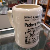 "Vintage 1960 Green Bay Packers ""Sports Page"" Pottery Beer Mug"