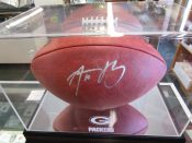 Green Bay Packers Aaron Rodgers Autographed NFL Football COA Fanatics