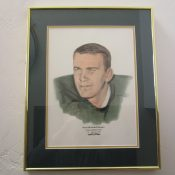 Scarce Original Sweetland Hand Colored Green Bay Packers Jim Grabowski Artwork