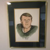 Scarce Original Sweetland Hand Colored Green Bay Packers Donny Anderson Artwork