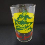 "Vintage Circa 1950 Miller High Life ""Be A Packer Backer"" Bar Glass"