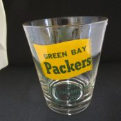 Large Green Bay Packers 1966 NFL Champions Old Fashioned Glass