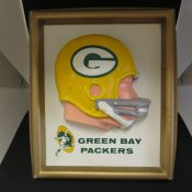 Vintage 1960s Green Bay Packers 3-D Wall Plaque