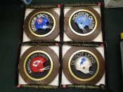 Vintage 1970s NFL Round Helmet Plaques Choose Your Favorite