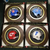 Vintage 1970s NFL Round Helmet Plaques Choose Your Favorite