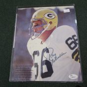 JSA Certified Ray Nitschke Autograph On Beckett Page