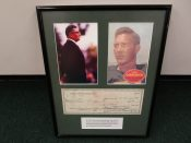 1960 Green Bay Packers Business Check With Lombardi Autograph
