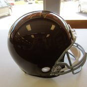 Green Bay Packers Solid Brown Throwback Helmet With Brett Favre Autograph