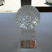 Ray Nitschke NFL Players Golf Classic 2003 First Place Crystal Trophy
