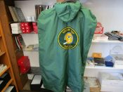 "Vintage Green Bay Packers Sideline Cape With Correct Tags Numbered ""4"""