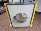Super Bowl 31 Ring Light-Up Display From Green Bay Packers Hall Of Fame
