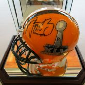 Green Bay Packers Arron Rodgers Autographed Super Bowl 45 Mini Helmet With Case