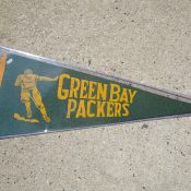 Vintage 1930s-1940s Green Bay Packers Souvenir Pennant