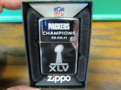 Green Bay Packers Champions Super 45 Zippo Lighter Mint Unused In Box