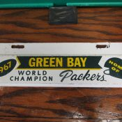 Scarce 1967 Green Bay Packers 1967 World Champion License Plate Topper